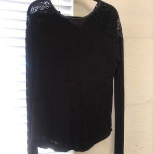Black Heather by Bordeaux Long Sleeve Top